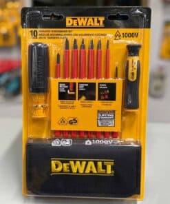 סט 10 מברגים מבודדים 1000V DeWalt DWHT66417