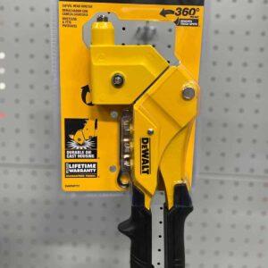 אקדח ניטים 360 מעלות DeWalt DWHTMR77C דגם מיוחד במינו בעל ראש מסתובב נוח מאוד לעבודה מתאים לשלושה גדלים של ניטים מחיר