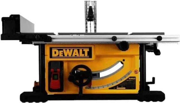 """מסור שולחן 10 """" DeWalt DWE7492 דגם הכי חזק בקטגוריה בעל מגוון רחב של פונקציות עבודה דיוק מרבי שליטה במהירות דיוולט מחיר"""