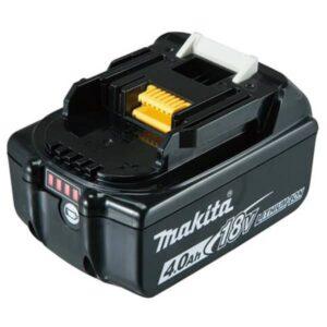 סוללה ליתיום מבית MAKITA מקיטה דגם BL1840 מתאים לכלל הכלים של 18Vקל משקל נוח מאוד לעבודה ממושכת עם הכלי כולל חיווי סוללה