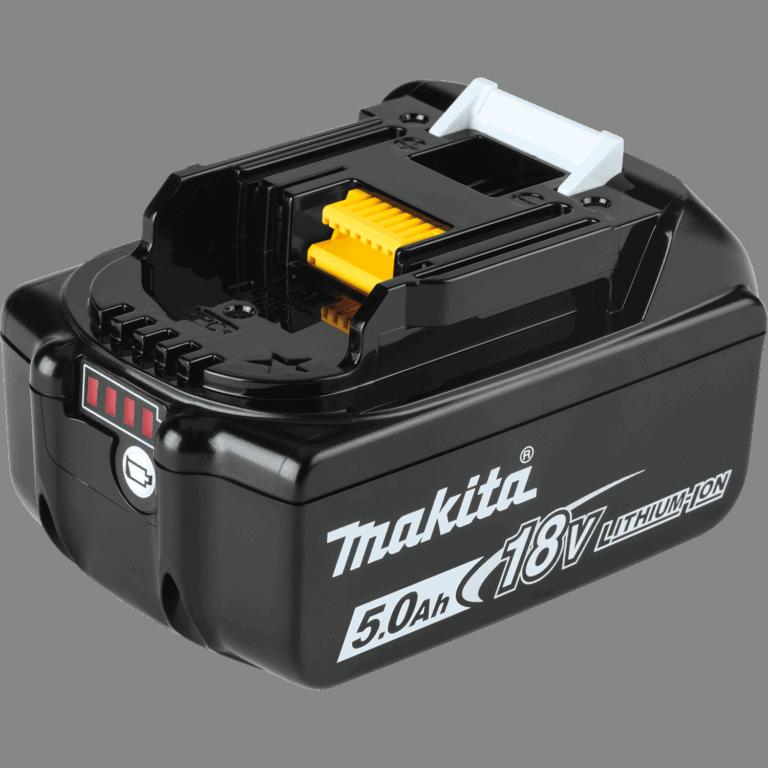 סוללה ליתיום מבית MAKITA מקיטה דגם BL1850 מתאים לכלל הכלים של 18V הסוללה הפופולרית ביותר בשוק מיועד לעבודה ממושכת 5 אמפר