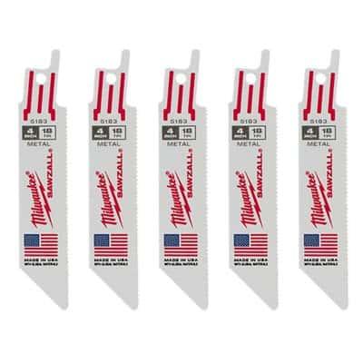 חבילת להבים למסור חרב מבית מילווקי MILWAUKEE דגם 48-00-5183 ייעודי לעבודות מתכת מתאים לכלל מסורי החרב של כלל החברותדגם חזק במיוחד