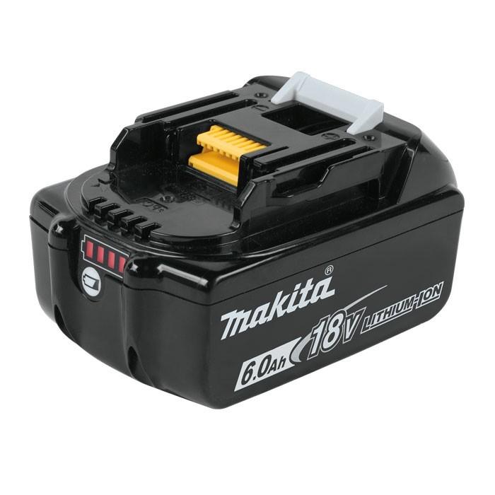 סוללה ליתיום מבית MAKITA מקיטה דגם BL1860 מתאים לכלל הכלים של 18V הסוללה הפופולרית ביותר בשוק מיועד לעבודה ממושכת 6 אמפר