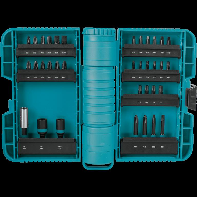 סט ביטים 35 חלקים Makita סדרת impactX Xpand A-98326 דגם חזק במיוחד כולל תא איחסון פי 50 יותר חזקים מכל סדרות הביטים