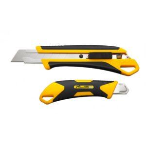 """סכין יפני מבית אולפה OLFA מיוצר ביפן דגם של 18מ""""מ מתאים לעבודה ממושכת של אנשי גבס חשמלאים ומגוון רחב של מקצועות סכין עמידה במיוחד L7-AL"""