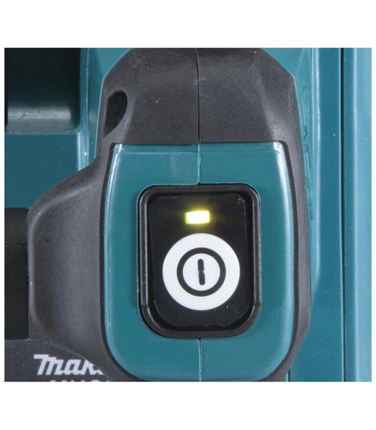 """מסור שרשרת נטען מבית מקיטה MAKITA גודל להב 10"""" 205מ""""מ קל משקל מנוע ללא פחמים BL מיועד לעבודה ממושכת דגם DUC254"""