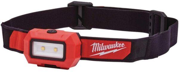 פנס ראש בעל 3 מצבי עבודה מבית Milwaukee מילווקי 350 לומנס מתאים לעבודה ממושכת של מגוון רחב של אנשי מקצוע דגם 2103