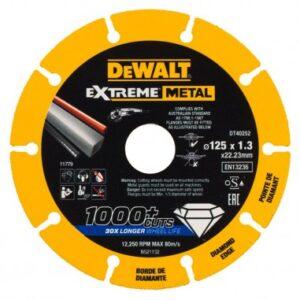 """להב דיסקית 4.5"""" יהלום לחיתוך ברזל מבית DeWalt ( 125מ""""מ ) דיוולט מתאים לעבודה ממושכת של אנשי מקצוע לחיתוך מתכת DT40252"""